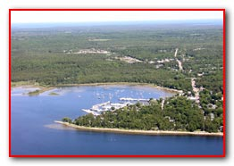 Fish Creek Harbor - Arial View