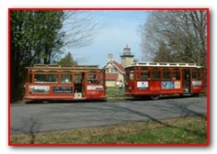 Trolley at Eagle Bluff Light House